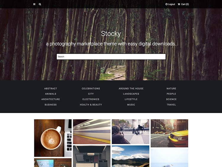 Stocky Theme for WordPress (EDD)