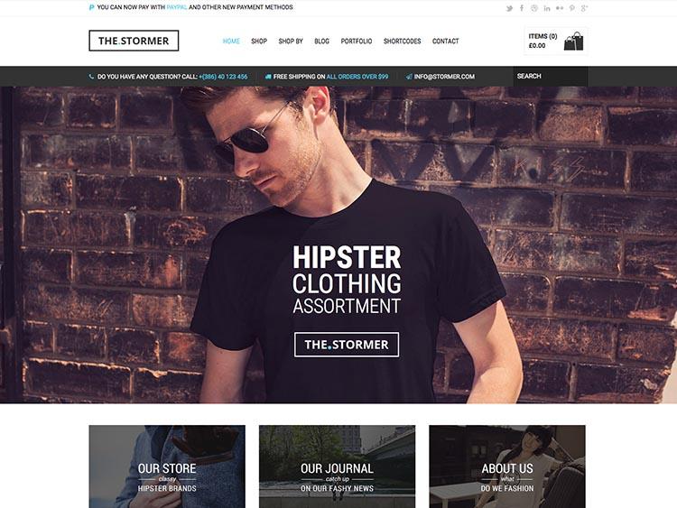 The Stormer WordPress WooCommerce Theme