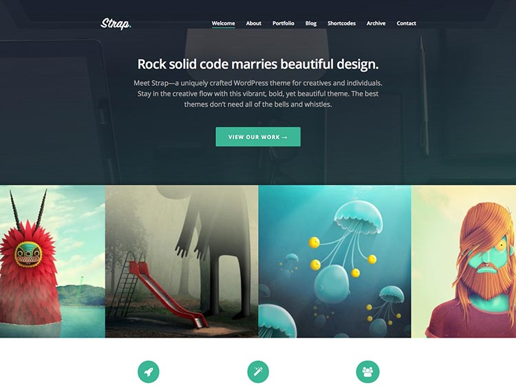Strap - Best WordPress Themes for Artists