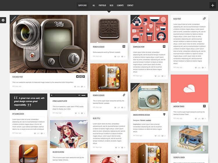 Supergrid WordPress Masonry Grid Theme