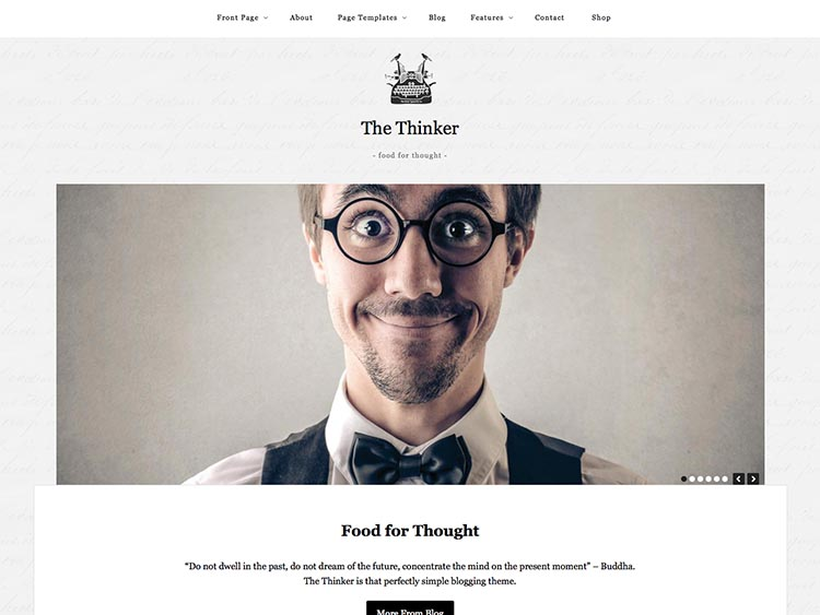The Thinker - Best WordPress Writer Theme
