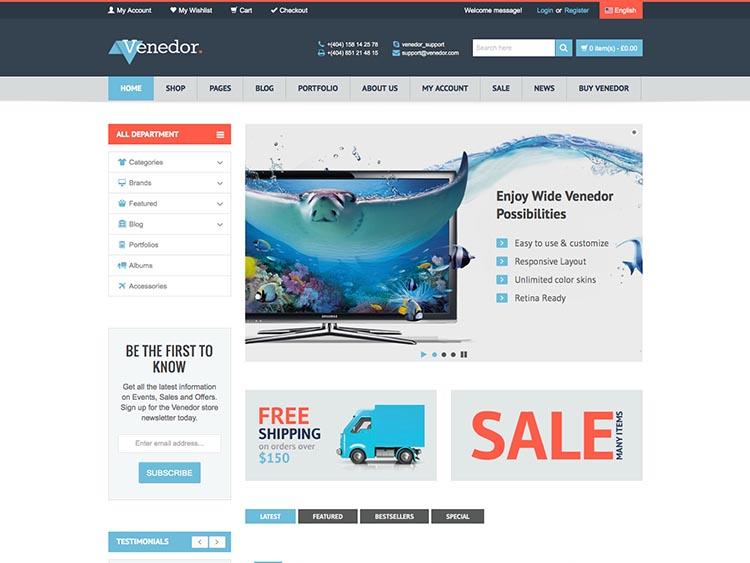 Venedor Electronics Theme for WooCommerce
