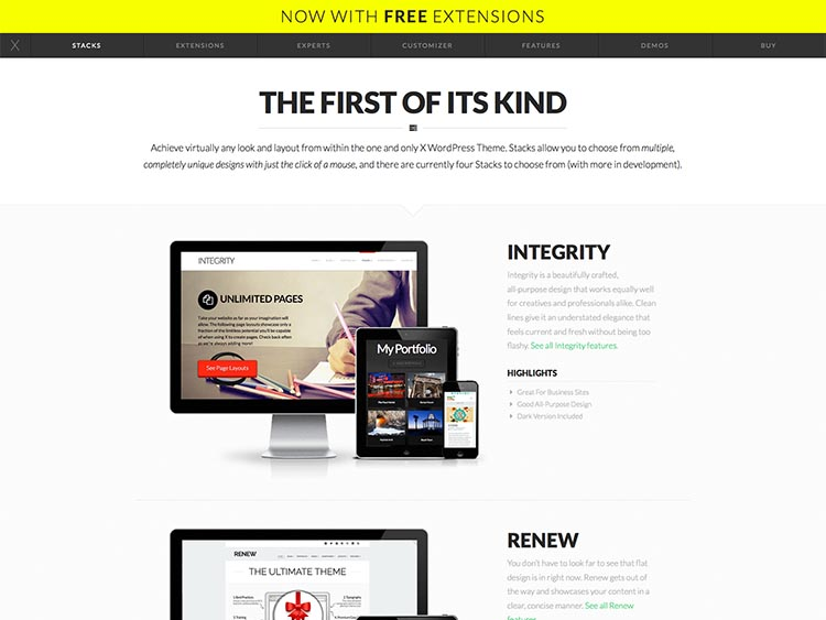 X - Best Selling WordPress Themes
