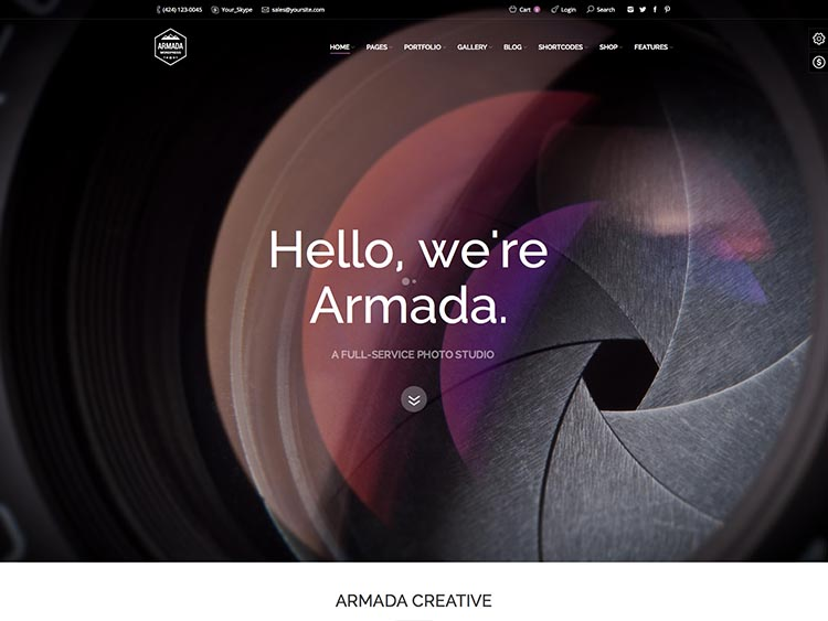 Armada Moible & Retina-ready WordPress Photography Theme