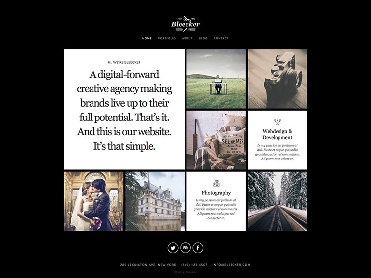Bleecker Moible & Retina-ready WordPress Photography Theme