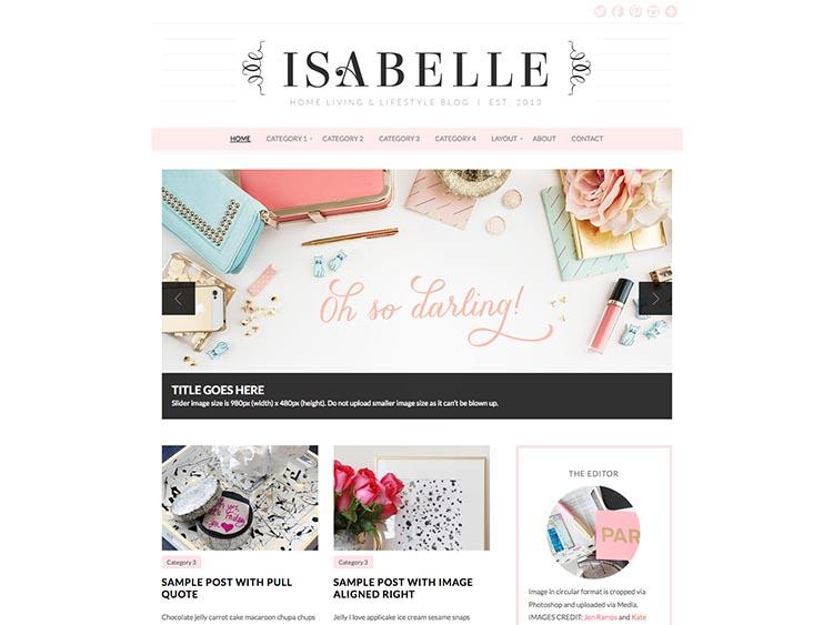 Isabelle WordPress Fashion Blog Theme