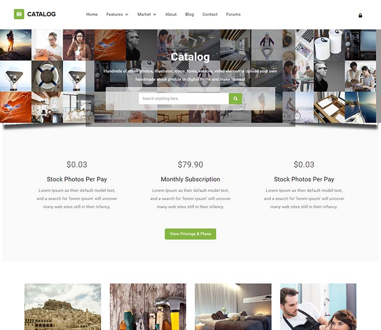 Catalog: an Etsy style marketplace theme for WordPress
