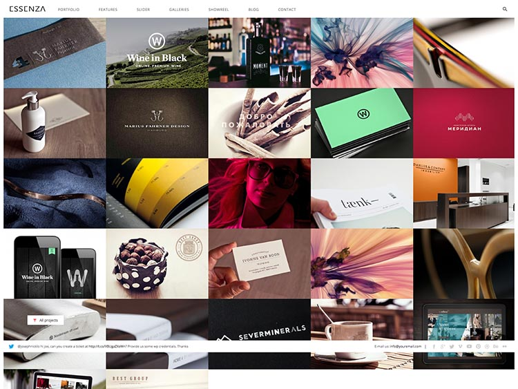 Essenza Moible & Retina-ready WordPress Photography Theme