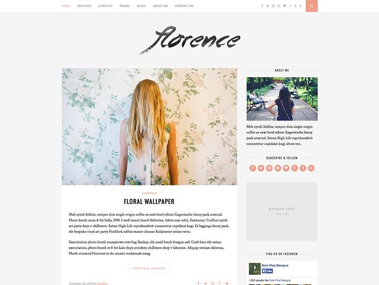 Florence WordPress Fashion Blog Theme