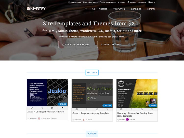 DMartify Sell WordPress Themes & Templates