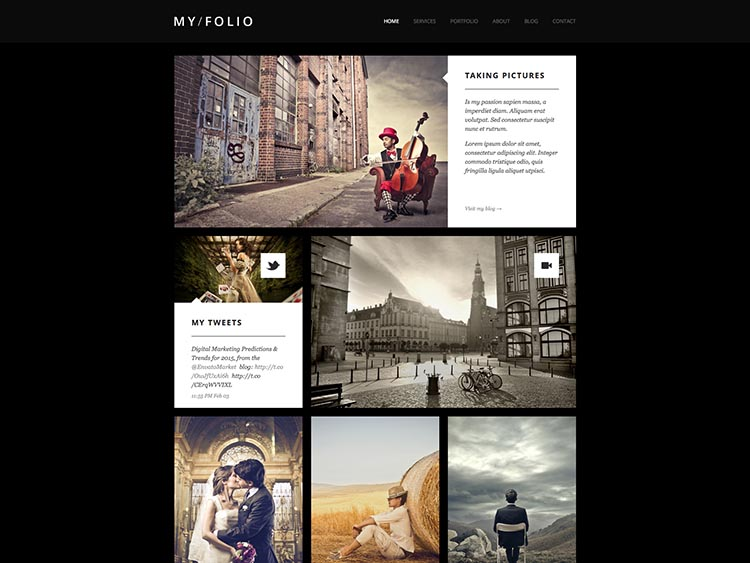 My Folio Moible & Retina-ready WordPress Photography Theme