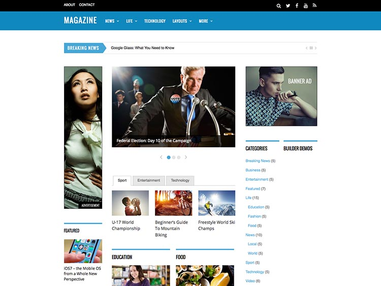 Magazine Themify Theme for WordPress