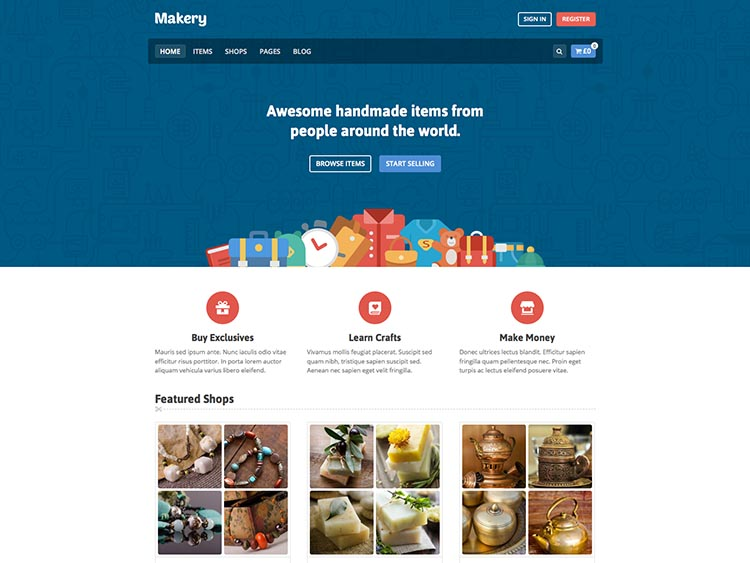 Makery Multi-Vendor WordPress Marketplace Theme