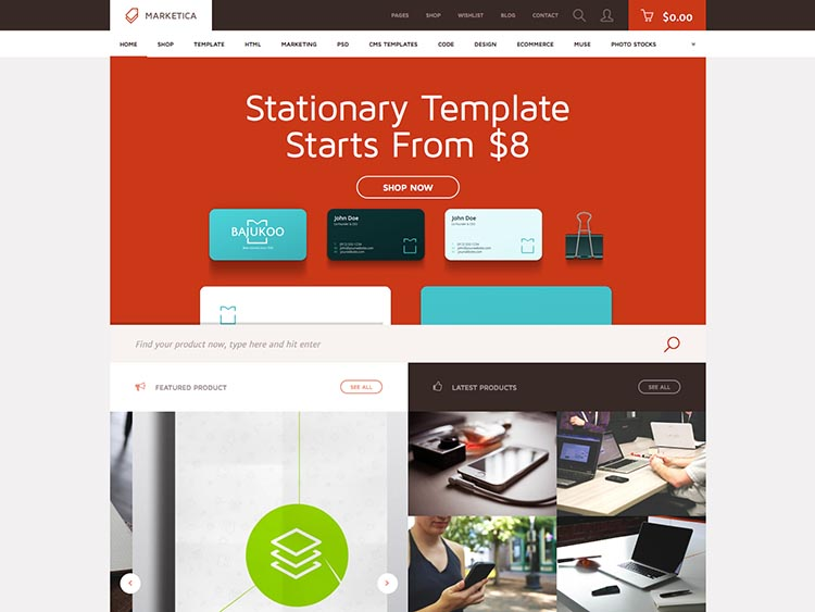 Marketica Multi-Vendor WordPress Marketplace Theme