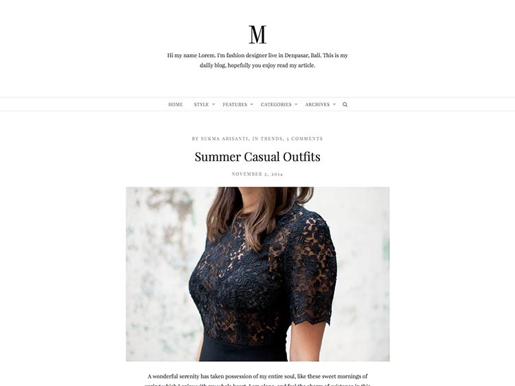 Minimy WordPress Fashion Blog Theme