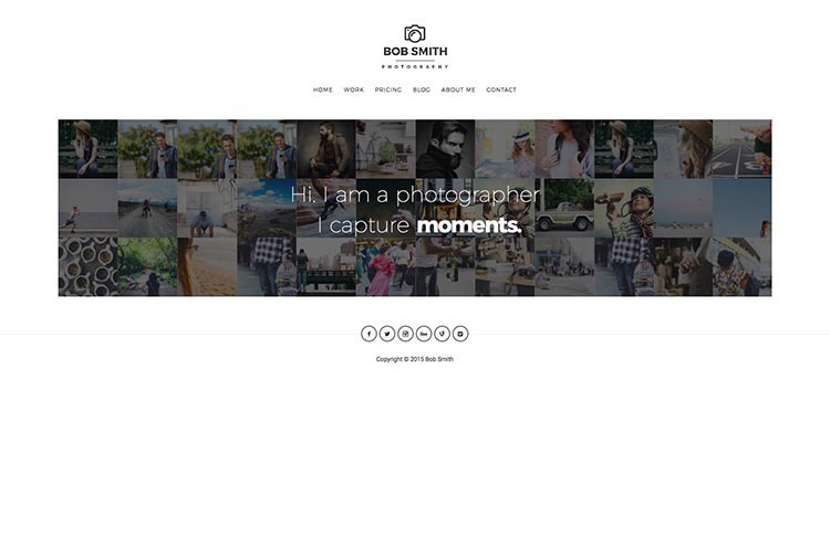 Photographer Moible & Retina-ready WordPress Photography Theme