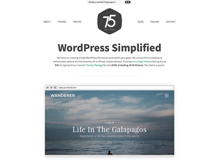 Press75 WordPress Theme Developer
