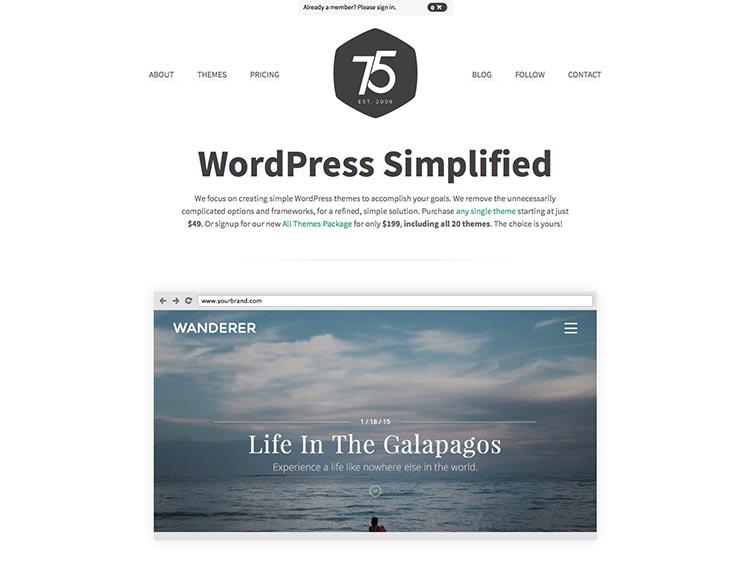 Press75 WordPress Theme Developer
