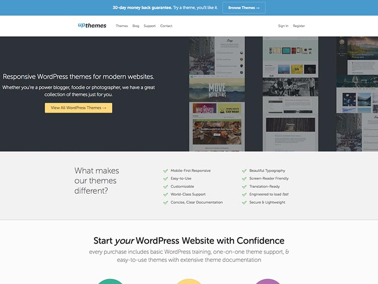 UpThemes WordPress Theme Shop