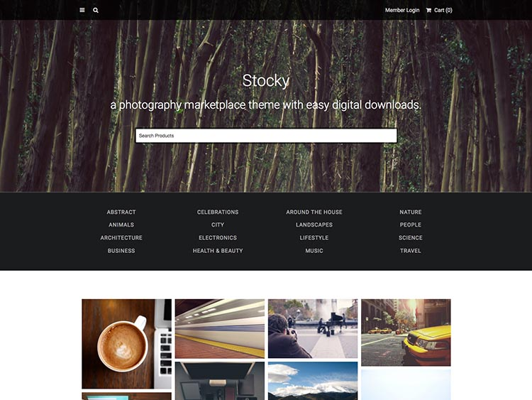 Stocky Multi-Vendor WordPress Marketplace Theme