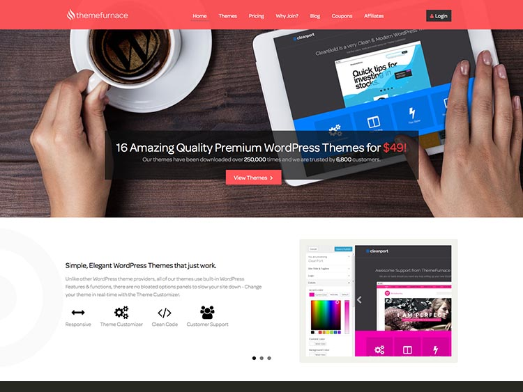 WordPress Theme Designer ThemeFurnance