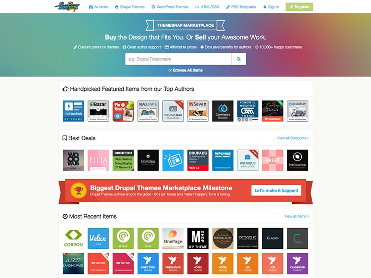 ThemeSnap Alternative WordPress Theme Marketplace