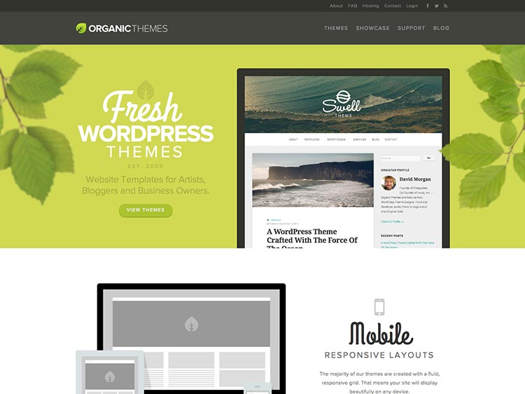 WordPress Theme Designer OrganicThemes