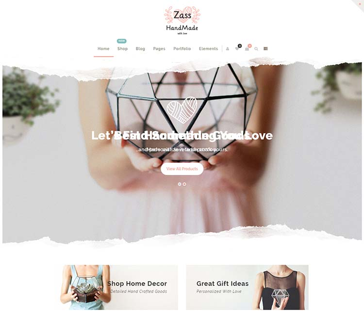 Zass: a Etsy-style multi-vendor marketplace theme
