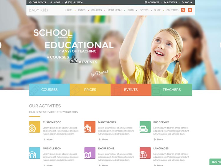 Baby Kids WordPress Theme for Early Education