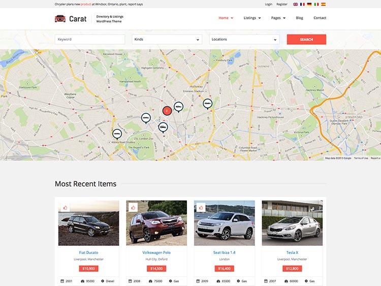 Carat Automotive Dealer theme for WordPress