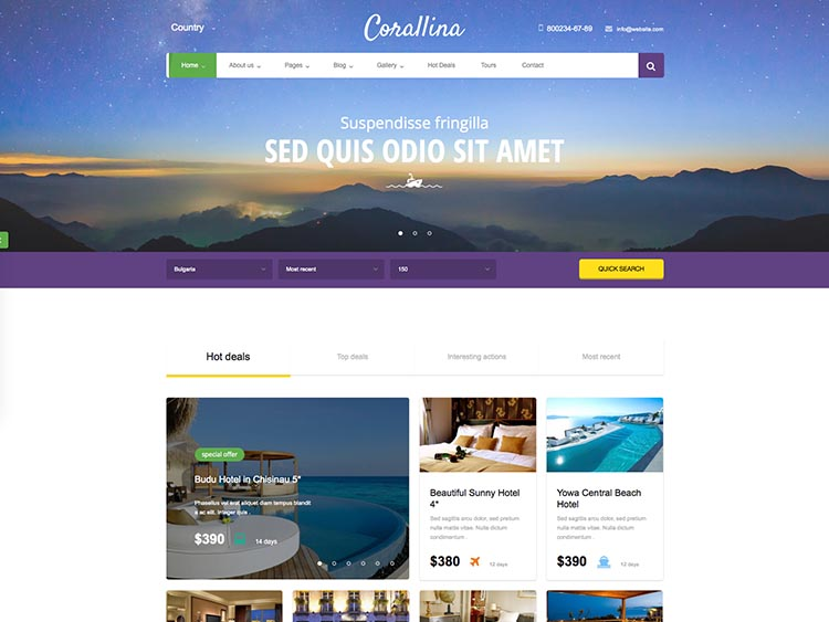 Best responsive tourist agency & booking theme for WordPress