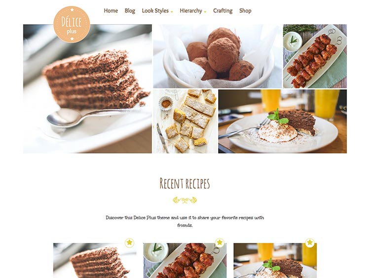 Delice Plus Responsive WordPress Recipe Theme