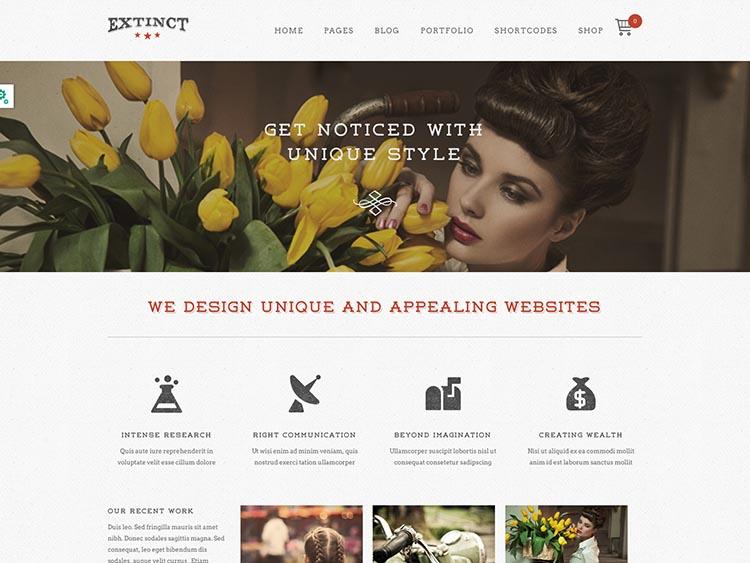 Extinct Theme for WordPress