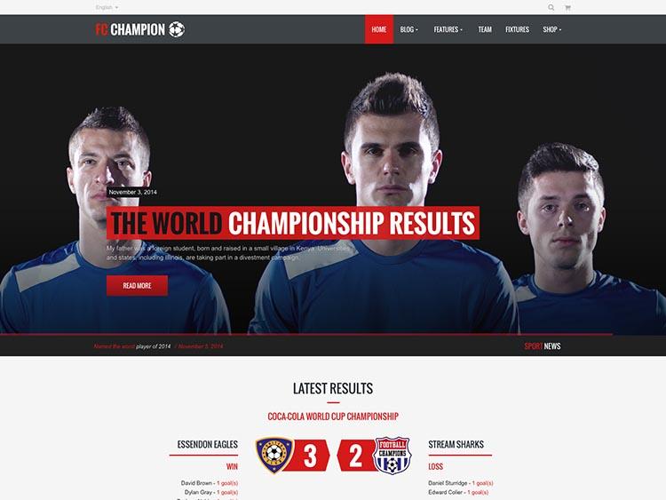 Champion Sports Theme for WordPress