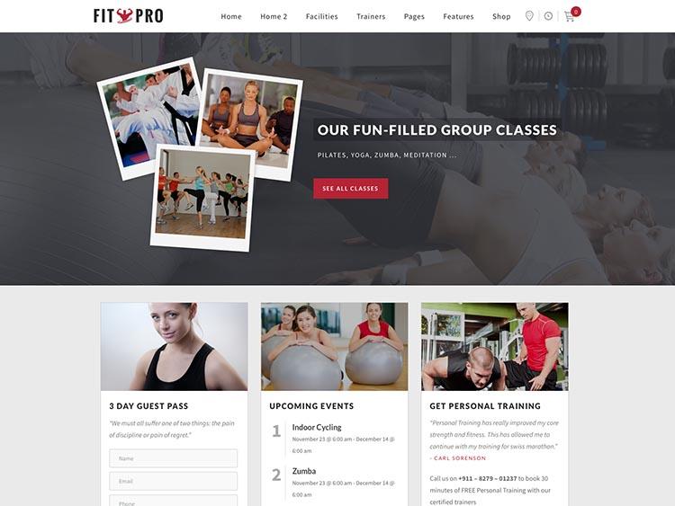 FitPro WordPress Gym Theme