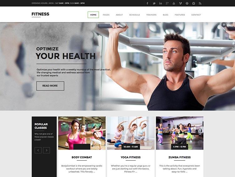 Fitness Gym Theme for WordPress