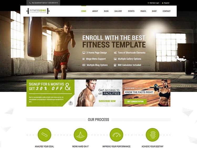 Gym & Fitness Theme for WordPress