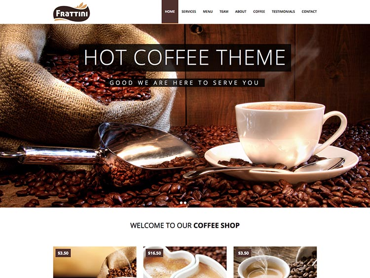 Frattini WordPress Cafe & Coffee Theme