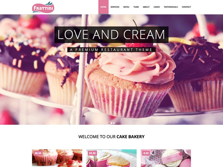 Frattini Cake & Bakery Theme