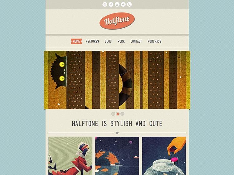 Halftone WordPress Vintage Theme
