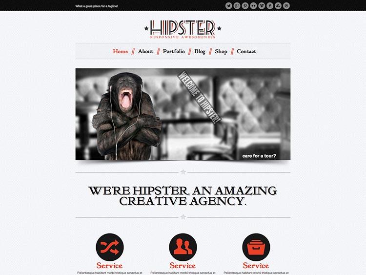 Hipster Vintage WordPress Theme