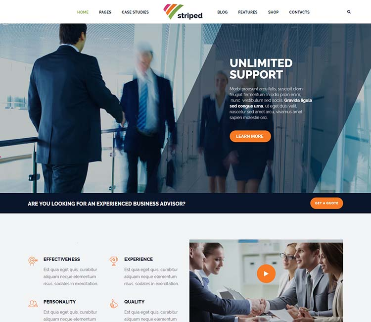 seo optimized corporate theme for WordPress
