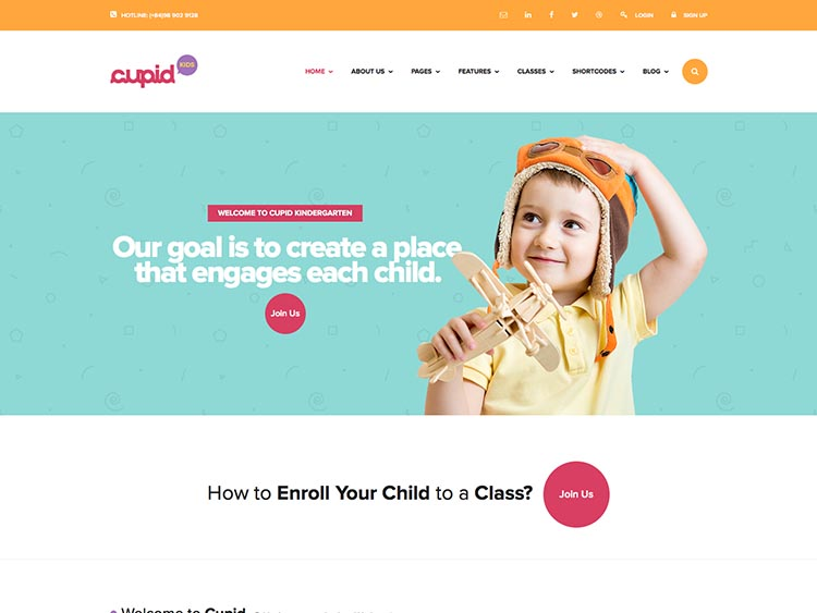 Cupid WordPress Daycare Theme