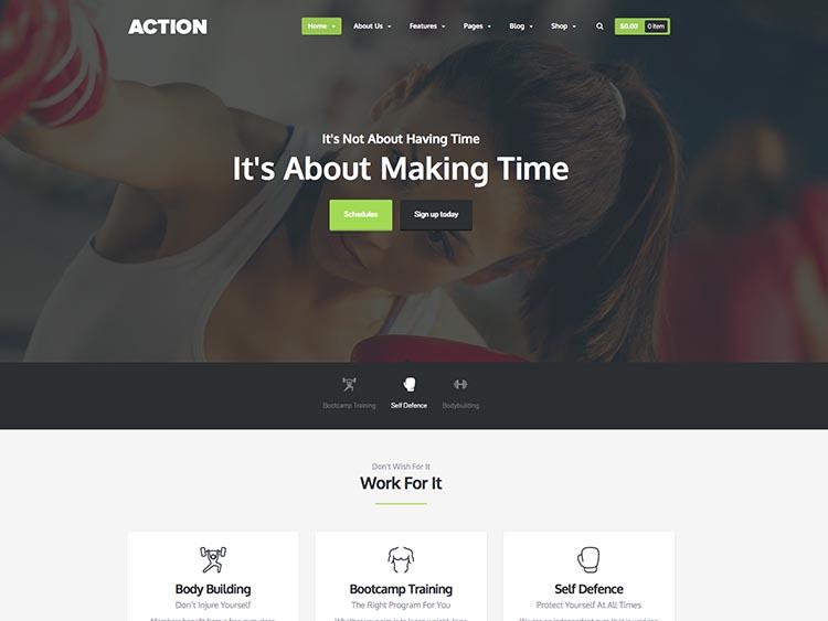 Action Gym theme for WordPress