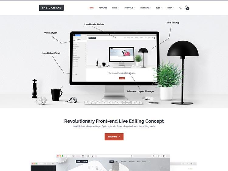 The Canvas Corporate WordPress Theme