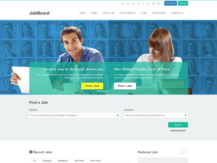 Job Board Theme for WordPress