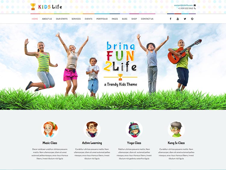 Kid's Life WordPress Early Education Theme