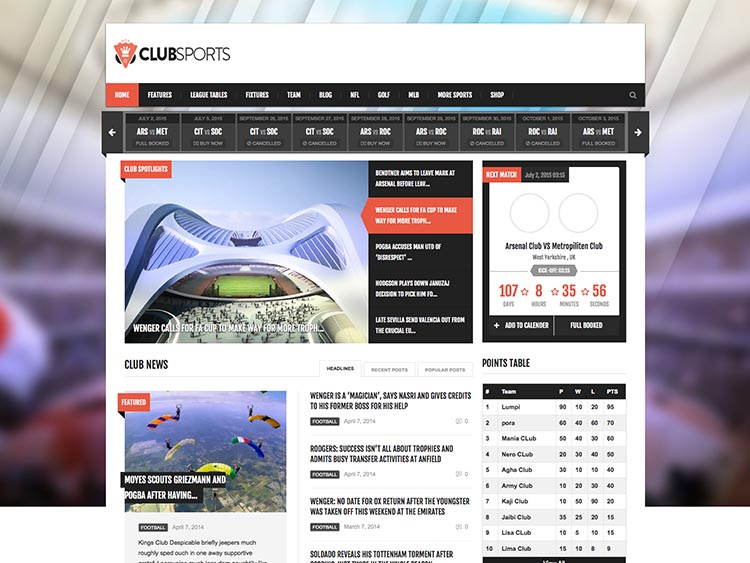 14+ Best WordPress Sports Themes for 2018 - Siteturner