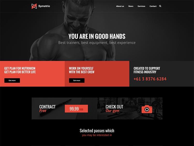 Symetrio WordPress Gym Theme