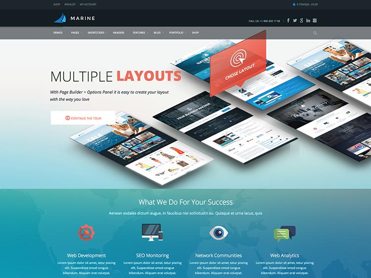 Marine Corporate WordPress Theme